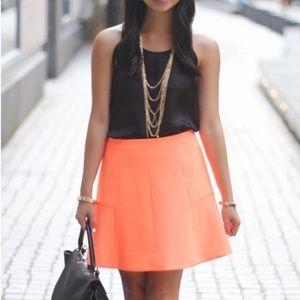 J. Crew Orange A-Line Skirt, sz 6